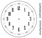 clock face for house  alarm ... | Shutterstock .eps vector #1095403655
