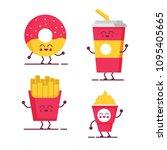 cute fast food character vector illustration