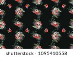 seamless pattern in small... | Shutterstock . vector #1095410558