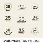 25 years anniversary logo set.... | Shutterstock .eps vector #1095413558