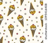 creative seamless pattern with... | Shutterstock .eps vector #1095416408
