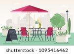 Sidewalk Cafe Or Restaurant...