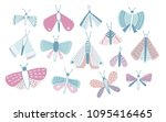 bundle of pastel colored... | Shutterstock .eps vector #1095416465