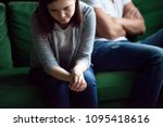sad frustrated wife feeling... | Shutterstock . vector #1095418616