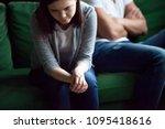 sad frustrated wife feeling... | Shutterstock . vector #1095418616