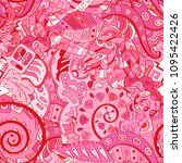 tracery seamless pattern.... | Shutterstock .eps vector #1095422426