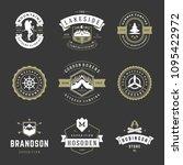 camping logos design templates...   Shutterstock .eps vector #1095422972