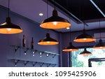 inside bistro restaurant and... | Shutterstock . vector #1095425906