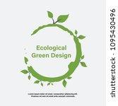 ecological green design... | Shutterstock .eps vector #1095430496