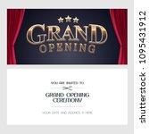 grand opening vector... | Shutterstock .eps vector #1095431912