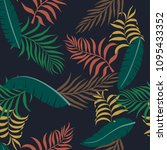 tropical background with palm... | Shutterstock .eps vector #1095433352