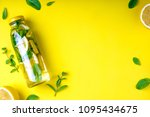 detox fruit infused water ... | Shutterstock . vector #1095434675