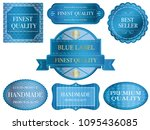 set of assorted blue labels... | Shutterstock .eps vector #1095436085