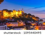 the castle of sao jorge  the... | Shutterstock . vector #1095440495