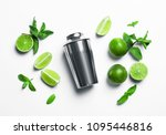 flat lay composition with lime  ... | Shutterstock . vector #1095446816