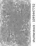 grunge black and white pattern. ...   Shutterstock . vector #1095447752
