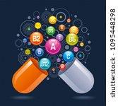medical vitamin  mineral... | Shutterstock .eps vector #1095448298