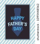 happy fathers day greeting card ... | Shutterstock .eps vector #1095448562
