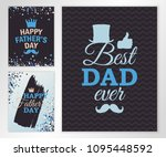 fathers day three greeting... | Shutterstock .eps vector #1095448592