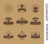 coffee shop logos design... | Shutterstock .eps vector #1095449192