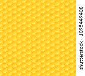 honeycomb background  seamless... | Shutterstock .eps vector #1095449408