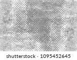 grunge black and white pattern. ... | Shutterstock . vector #1095452645