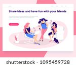 relationship  online dating and ... | Shutterstock .eps vector #1095459728