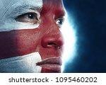 portrait england fans. football ... | Shutterstock . vector #1095460202