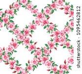 vector illustration pink... | Shutterstock .eps vector #1095462812