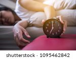 hand woman hates getting... | Shutterstock . vector #1095462842