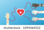 blood donation to foreigner  | Shutterstock .eps vector #1095464522