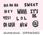 sweet  hey  whoa  it's ok  lol  ... | Shutterstock .eps vector #1095465602