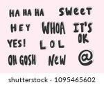 sweet  hey  whoa  it's ok  lol  ... | Shutterstock .eps vector #1095465602