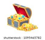 ancient gold treasures in open... | Shutterstock .eps vector #1095465782
