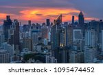 scenic of twilight sky... | Shutterstock . vector #1095474452