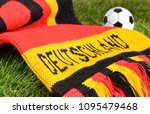 german scarf in red black gold... | Shutterstock . vector #1095479468