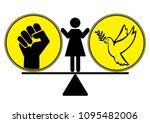 building peace or aiding...   Shutterstock . vector #1095482006