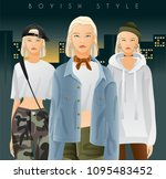 body template with outfits and...   Shutterstock .eps vector #1095483452