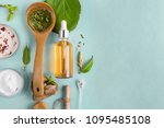 homeopathic oils  dietary... | Shutterstock . vector #1095485108