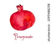 red pomegranate fruit... | Shutterstock . vector #1095488258