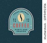 modern vintage coffee shop... | Shutterstock .eps vector #1095492356