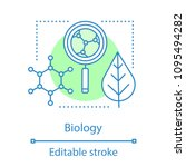 biology concept icon. science.... | Shutterstock .eps vector #1095494282