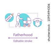 fatherhood concept icon.... | Shutterstock .eps vector #1095494306