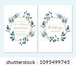 wedding invitation  thank you... | Shutterstock .eps vector #1095499745