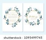 wedding invitation  thank you...   Shutterstock .eps vector #1095499745