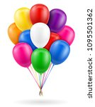 celebratory balloons pumped... | Shutterstock .eps vector #1095501362