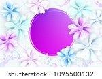 abstract romantic flower... | Shutterstock .eps vector #1095503132