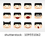emoticons with various facial... | Shutterstock .eps vector #109551062