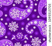 paisley seamless background ...   Shutterstock .eps vector #1095515705