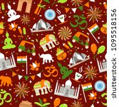 indian seamless pattern for...   Shutterstock .eps vector #1095518156